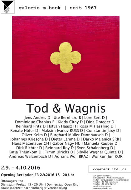 Tod & Wagnis, galerie m beck